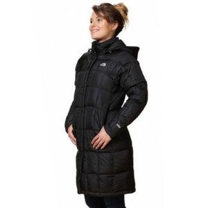 The North Face Black 600 Down Parka Jacket Long Sm
